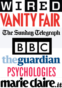 Vanity Fair | Wired | Marie Claire | The Sunday Telegraph | The Guardian | BBC | Psychologies